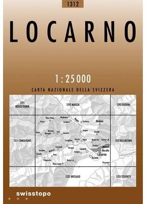 CH-1312  Locarno [2008] topografische wandelkaart 9783302013121  Bundesamt / Swisstopo LKS 1:25.000  Wandelkaarten Graubünden, Tessin