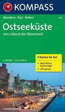 KP-724 Ostseeküste   Kompass wandelkaart * 9783850262033  Kompass Wandelkaarten Kompass Duitsland  Wandelkaarten Schleswig-Holstein, Lübeck