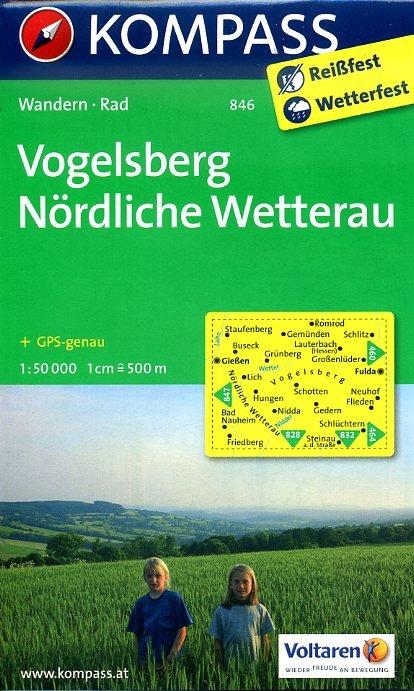 KP-846 Vogelsberg, Nördliche Wetterau 1:50.000 | Kompass * 9783850263573  Kompass Wandelkaarten   Wandelkaarten Hessen