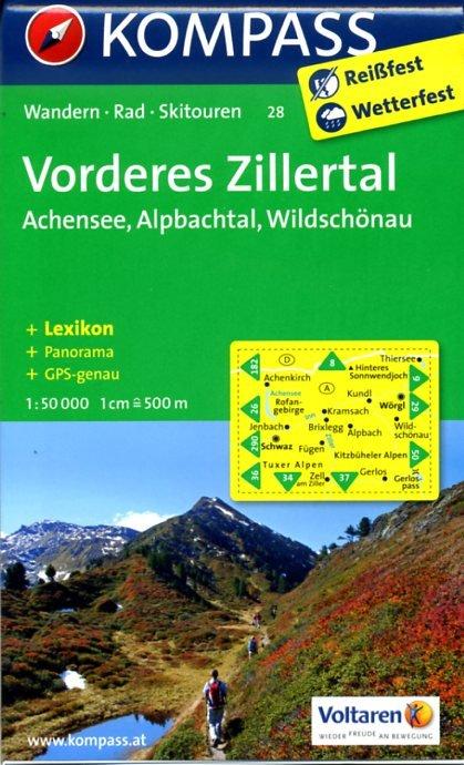 KP-28 Vorderes Zillertal | Kompass wandelkaart * 9783850265430  Kompass Wandelkaarten   Wandelkaarten Tirol & Vorarlberg