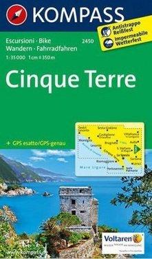 KP-2450 Cinque Terre 1:35.000 | Kompass wandelkaart * 9783850265973  Kompass Wandelkaarten   Wandelkaarten Ligurië, Piemonte, Lombardije