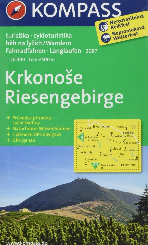 KP-2087  Krkonose Riesengebirge | Kompass wandelkaart * 9783850268653  Kompass Wandelkaarten   Wandelkaarten Tsjechië