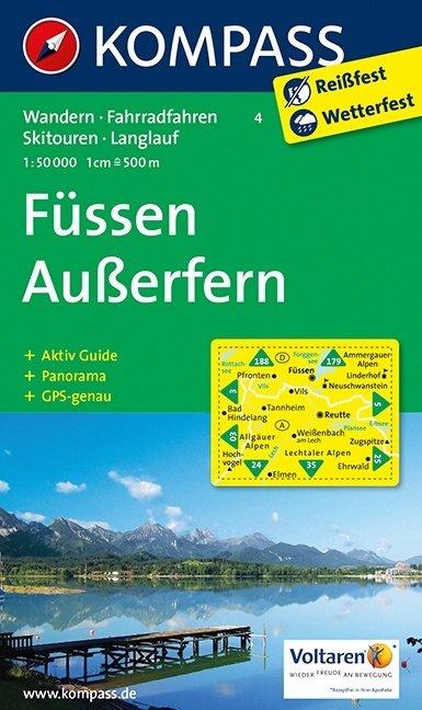 KP-4 Füssen-Ausserfern | Kompass wandelkaart * 9783854910060  Kompass Wandelkaarten   Wandelkaarten Tirol & Vorarlberg