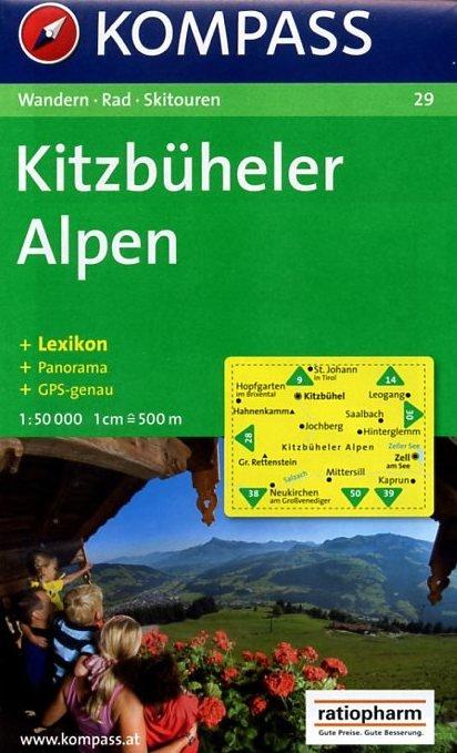 KP-29 Kitzbüheler Alpen | Kompass wandelkaart * 9783854910312  Kompass Wandelkaarten Kompass Oostenrijk  Wandelkaarten Tirol & Vorarlberg