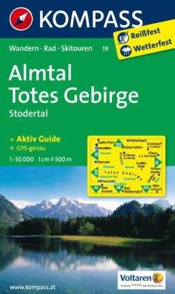KP-19 Almtal-Steyrtal-Kremstal | Kompass wandelkaart * 9783854912613  Kompass Wandelkaarten   Wandelkaarten Salzburg, Karinthë, Tauern, Stiermarken
