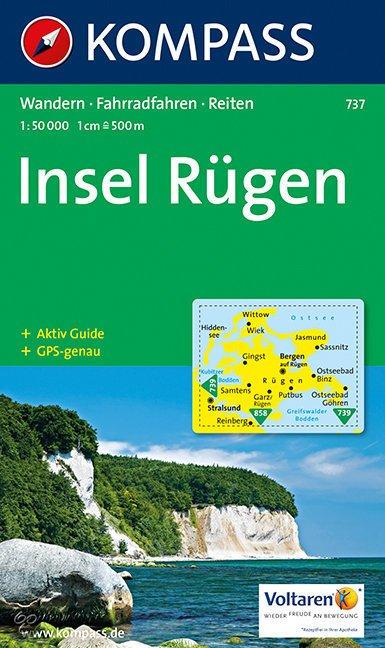 KP-737 Insel Rügen * 9783854916260  Kompass Wandelkaarten Kompass Duitsland  Wandelkaarten Rügen