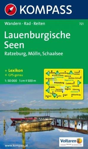 KP-721 Lauenburgische Seen 1:50.000 | Kompass wandelkaart * 9783854917021  Kompass Wandelkaarten Kompass Duitsland  Wandelkaarten Schleswig-Holstein, Lübeck