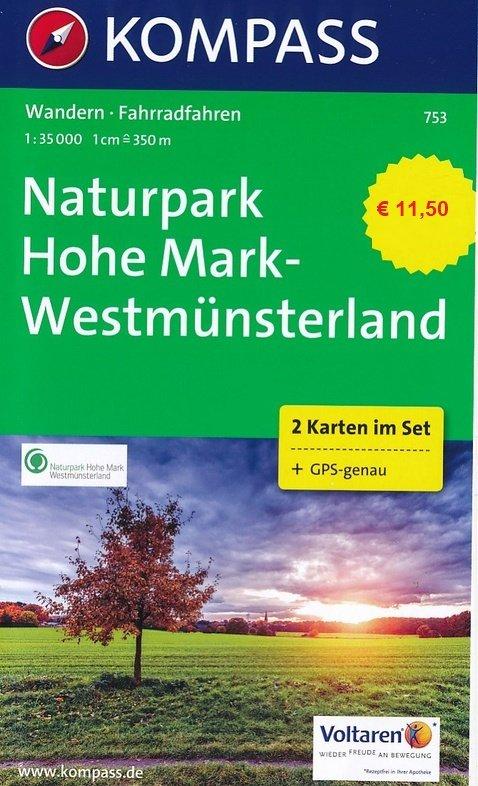 KP-753 NP Hohe Mark | Kompass wandelkaart * 9783990441817  Kompass Wandelkaarten Kompass Duitsland  Wandelkaarten Münsterland, Bentheim