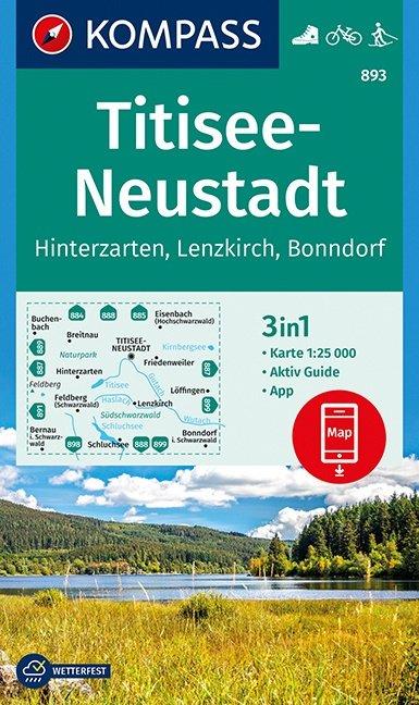 KP-893 Titisee/Neustadt  1:25.000 | Kompass 9783990444122  Kompass Wandelkaarten Kompass Duitsland  Wandelkaarten Bodenmeer, Schwäbische Alb