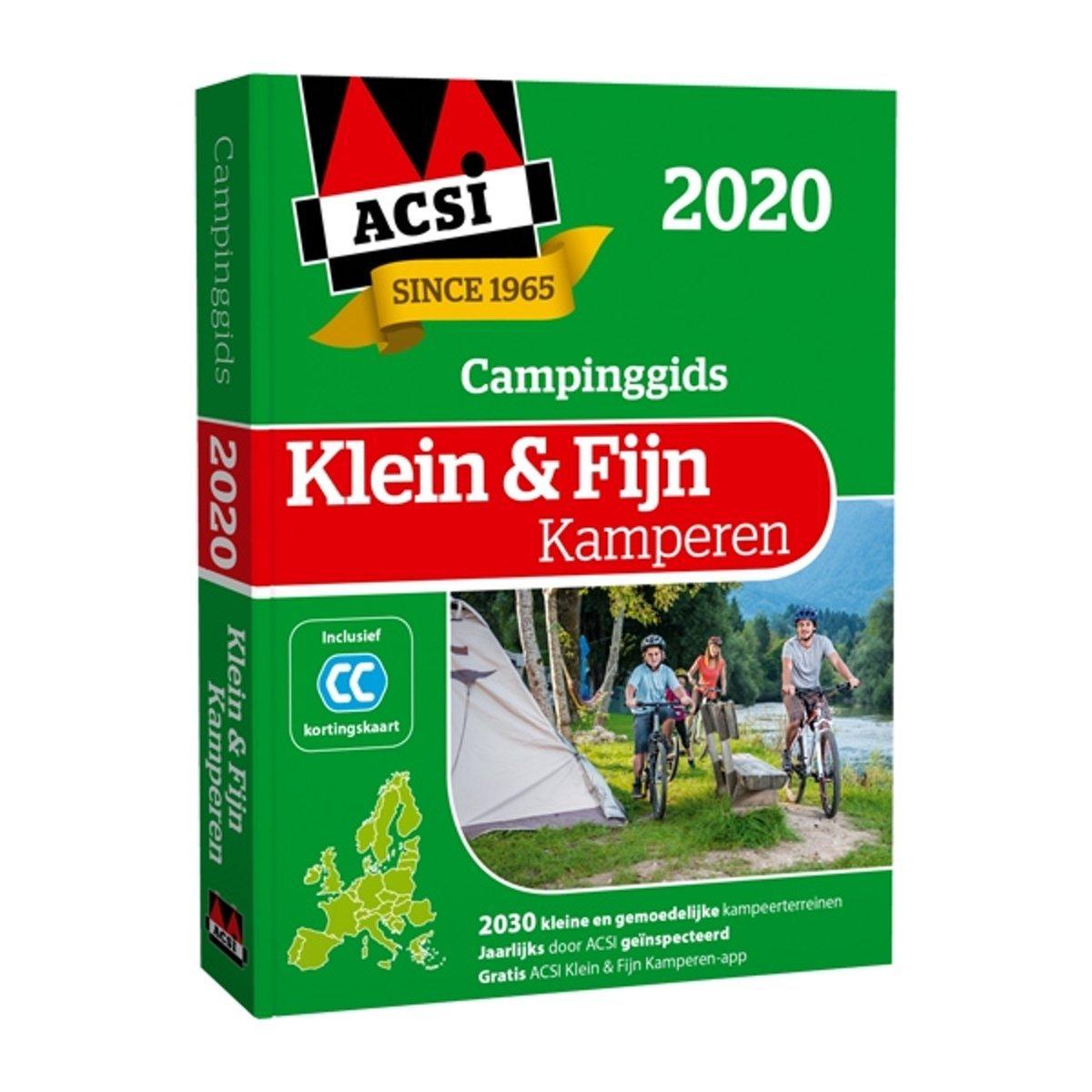 ACSI Klein & Fijn Kamperen gids + app 2020 9789492023834  ACSI   Campinggidsen Europa