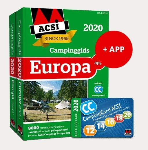 ACSI Campinggids Europa 2020 (+ app) 9789492023858  ACSI   Campinggidsen Europa