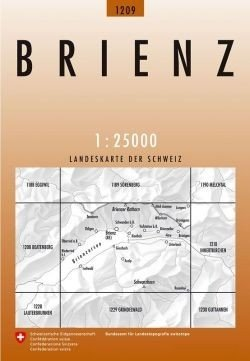 CH-1209  Brienz [2008] topografische wandelkaart CH1209  Bundesamt / Swisstopo LKS 1:25.000  Wandelkaarten Berner Oberland, Basel, Jura, Genève