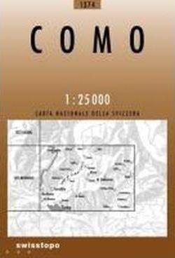 CH-1374  Como [2010] topografische wandelkaart * CH1374  Bundesamt / Swisstopo LKS 1:25.000  Wandelkaarten Graubünden, Tessin