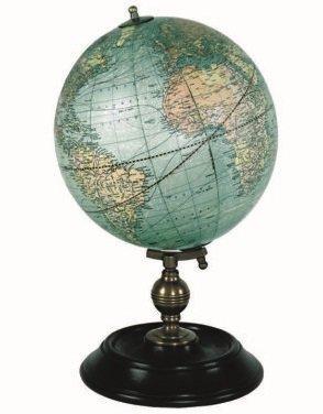 GL026 Weber & Costello globe (klein) GL026  Authentic Models Globes / Wereldbollen  Globes Wereld als geheel