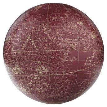 Mercator Sphere, red / ivory GL214  Authentic Models Globes / Wereldbollen  Globes Wereld als geheel