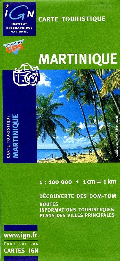 511 Martinique 1:100.000 IGOMMARTIN  IGN IGN Spéciales  Landkaarten en wegenkaarten Overig Caribisch gebied
