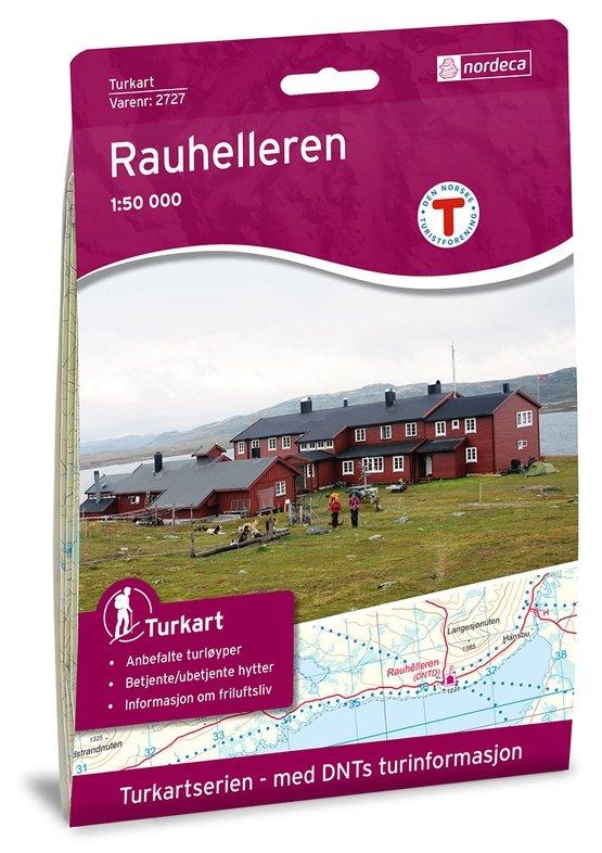 UG-2727 Rauhelleren 1:50.000 7046660027271  Nordeca / Ugland Turkart Norge  Wandelkaarten Zuid-Noorwegen