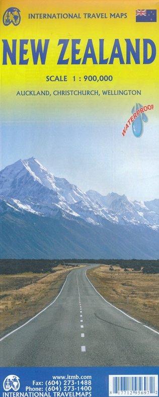 New Zealand | landkaart, autokaart 1:900.000 9781771295697  ITM   Landkaarten en wegenkaarten Nieuw Zeeland