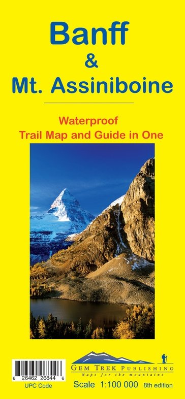 Banff + Mt.Assiniboine 1:100.000 9781895526844  Gem Trek Publishing Wandelkaarten Canada  Wandelkaarten West-Canada, Rockies