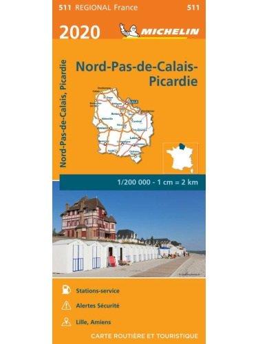 511 Nord / Pas-de-Calais / Picardie | Michelin  wegenkaart, autokaart 1:200.000 9782067243750  Michelin Regionale kaarten  Landkaarten en wegenkaarten Picardie, Nord, Aisne, Pas-de-Calais