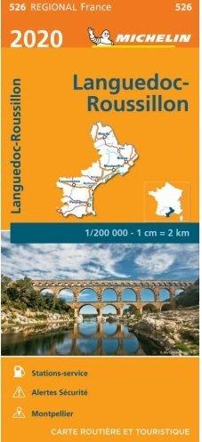 526 Languedoc-Roussillon | Michelin  wegenkaart, autokaart 1:200.000 9782067243897  Michelin Regionale kaarten  Landkaarten en wegenkaarten Languedoc, Hérault, Aude