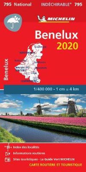 795  Benelux 2020 (indéchirable) 9782067244337  Michelin Michelinkaarten Jaaredities  Landkaarten en wegenkaarten Benelux
