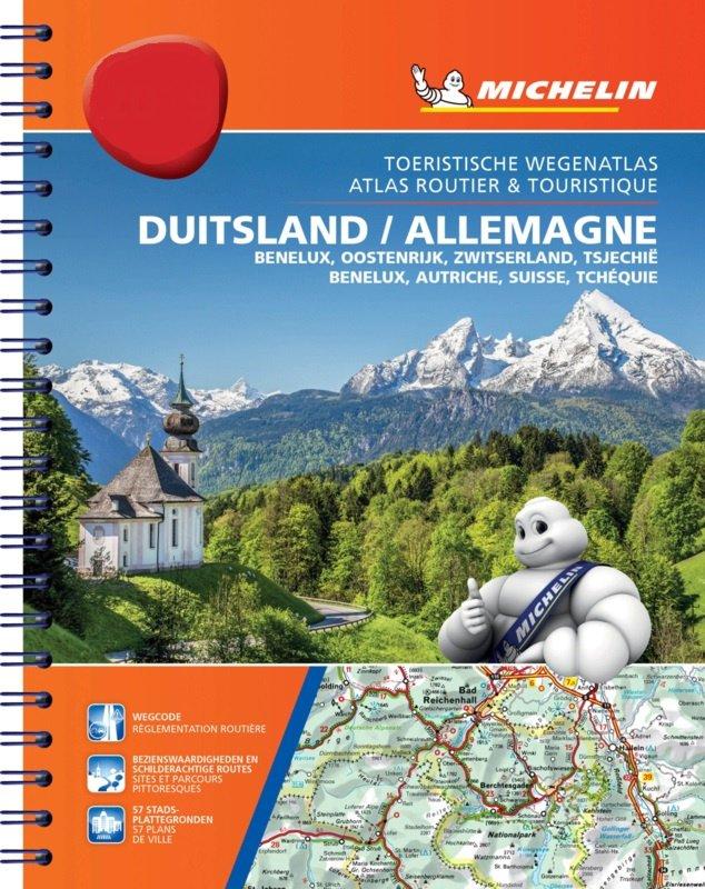 462 Duitsland, Benelux, Oostenrijk,Tsjechië 2020 9782067244542  Michelin Wegenatlassen  Wegenatlassen Duitsland