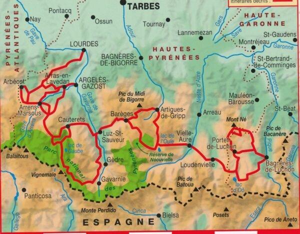 TG1091  Traversée des Pyrénées Centrales | wandelgids GR-10 9782751410543  FFRP Topoguides  Meerdaagse wandelroutes, Wandelgidsen Franse Pyreneeën, Toulouse, Gers, Garonne