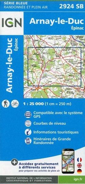 SB-2924SB Arnay-le-Duc | wandelkaart 1:25.000 9782758534518  IGN Serie Bleue (vernieuwd)  Wandelkaarten