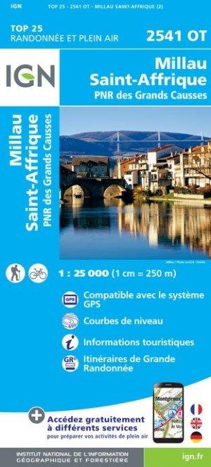2541OT Millau / St. Affrique | wandelkaart 1:25.000 9782758539599  IGN TOP 25 (1:25.000)  Wandelkaarten Languedoc, Hérault, Aude, Tarn