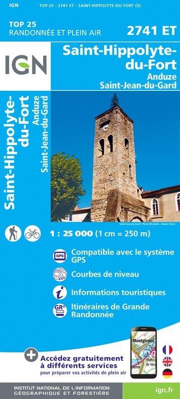 2741ET  St-Hyppolyte-du-Fort, Anduze | wandelkaart 1:25.000 9782758543114  IGN TOP 25  Wandelkaarten Cevennen, Languedoc