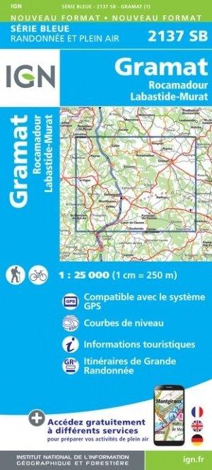 SB-2137SB  Gramat, Rocamadour, Labastide-Murat | wandelkaart 1:25.000 9782758546139  IGN Serie Bleue (vernieuwd)  Wandelkaarten