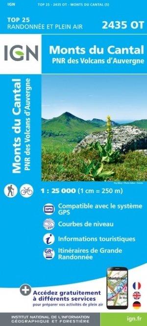 2435OT  Monts du Cantal | wandelkaart 1:25.000 9782758546474  IGN TOP 25  Wandelkaarten Auvergne, Cantal, Forez