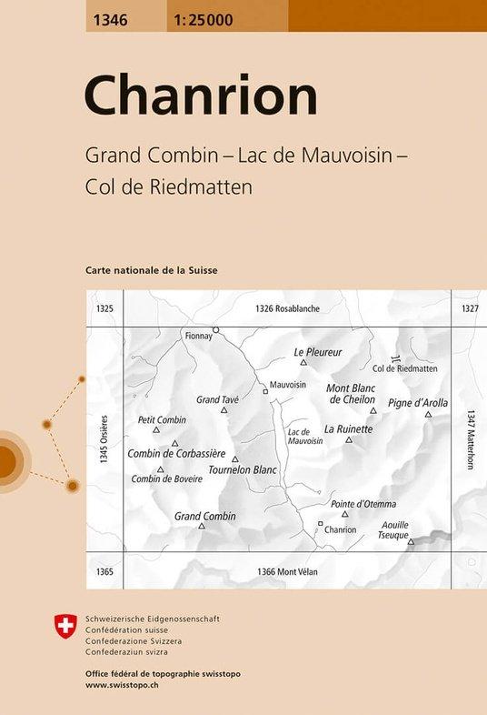 CH-1346  Chanrion [2018] topografische wandelkaart 9783302013466  Bundesamt / Swisstopo LKS 1:25.000  Wandelkaarten Wallis