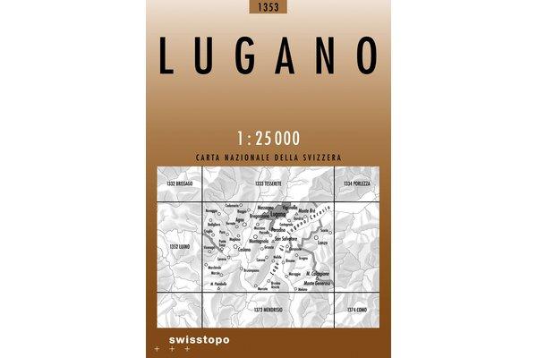 CH-1353  Lugano [2004] topografische wandelkaart 9783302013534  Bundesamt / Swisstopo LKS 1:25.000  Wandelkaarten Graubünden, Tessin