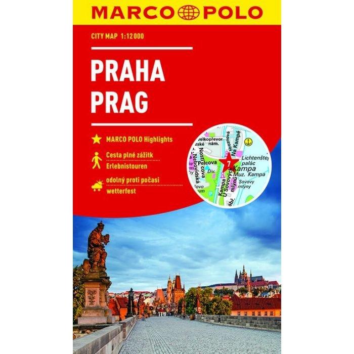 Praag stadsplattegrond 9783829741859  Marco Polo (D) MP stadsplattegronden  Stadsplattegronden Tsjechië