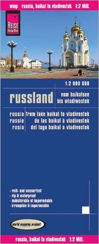 landkaart, wegenkaart Rusland, van het Baikalmeer tot Vladivostok1:2.000.000 9783831773800  Reise Know-How WMP Polyart  Landkaarten en wegenkaarten Siberië