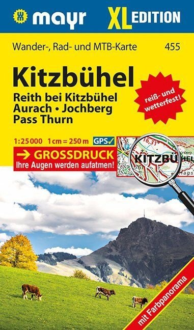 KP-455 XL Kitzbühel 1:25.000 9783850269698  Mayr   Wandelkaarten Salzburg, Karinthë, Tauern, Stiermarken