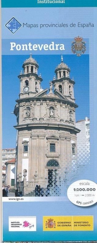 Prov.: Pontevedra 1:200.000 9788441627284  CNIG Provinciekaarten Spanje  Landkaarten en wegenkaarten Noordwest-Spanje, Compostela, Picos de Europa