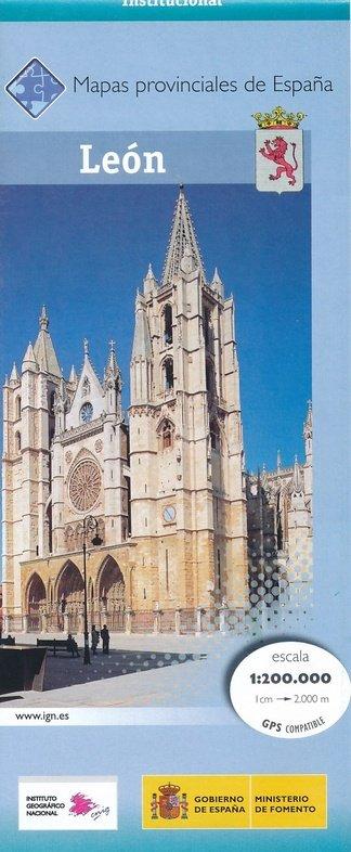 Prov.: León 1:200.000 9788441630314  CNIG Provinciekaarten Spanje  Landkaarten en wegenkaarten Noordwest-Spanje, Compostela, Picos de Europa