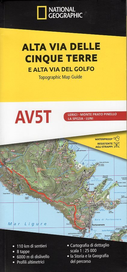 Alta Via delle Cinque Terre 9788869853210  National Geographic   Meerdaagse wandelroutes, Wandelgidsen, Wandelkaarten Genua, Ligurië