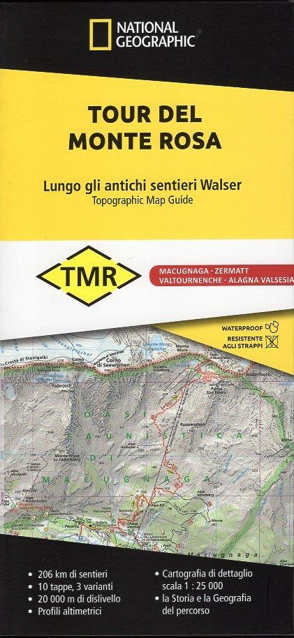 Tour del Monte Rosa | wandelatlas 1:25.000 9788869853319  National Geographic   Meerdaagse wandelroutes, Wandelkaarten Noord-Italië, Wallis