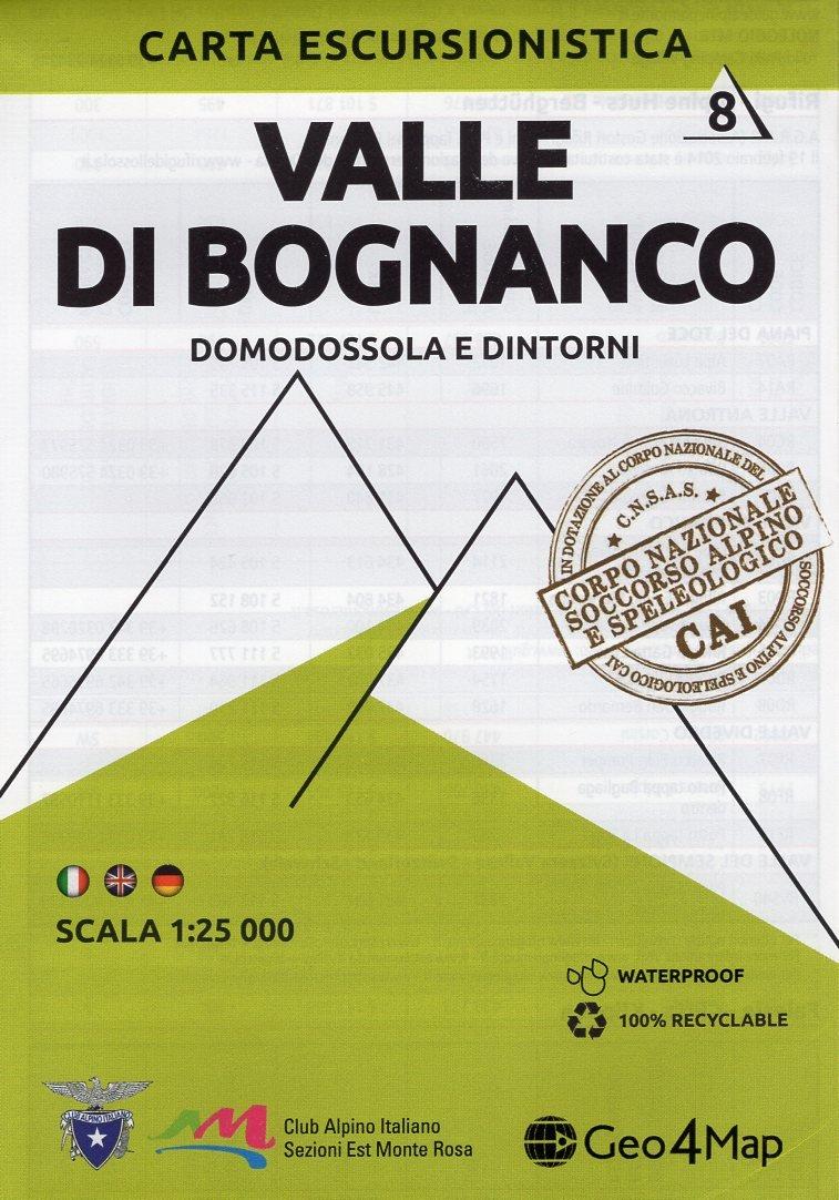 G4M-08 Valle di Bognanco   wandelkaart 1:25.000 9788899606060  Geo4Map   Wandelkaarten Turijn, Piemonte