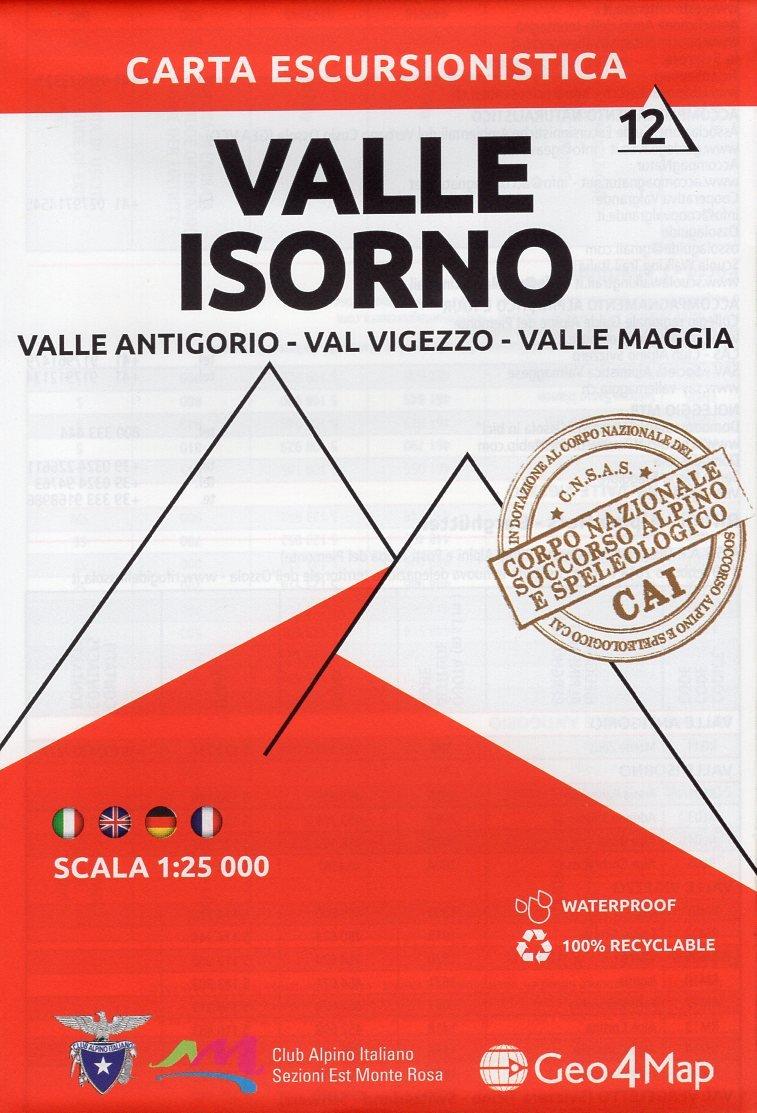 G4M-12 Valle Isorno   wandelkaart 1:25.000 9788899606169  Geo4Map   Wandelkaarten Turijn, Piemonte