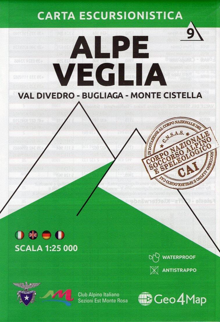G4M-09 Alpe Veglia   wandelkaart 1:25.000 9788899606428  Geo4Map   Wandelkaarten Ligurië, Piemonte, Lombardije