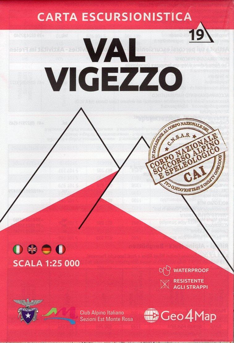 G4M-19 Val Vigezzo | wandelkaart 1:25.000 9788899606442  Geo4Map   Wandelkaarten Ligurië, Piemonte, Lombardije