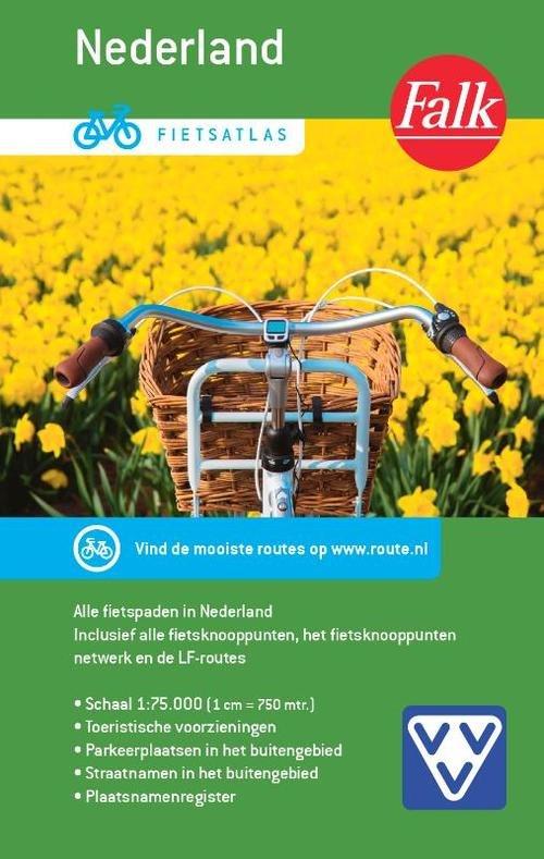 Fietsatlas Nederland,  1/75.000 9789028703513  Falk   Fietsgidsen, Fietskaarten Nederland