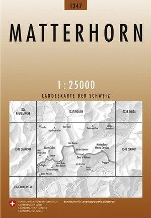 CH-1347  Matterhorn [2012] topografische wandelkaart CH1347  Bundesamt / Swisstopo LKS 1:25.000  Wandelkaarten Wallis