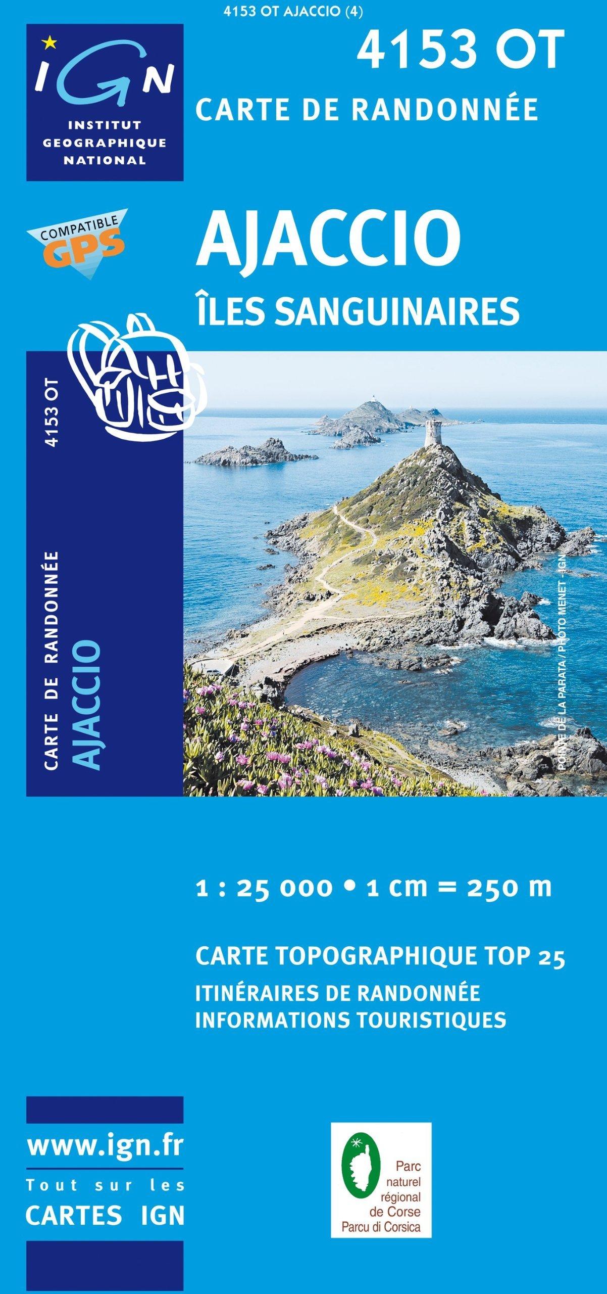4153OT  Ajaccio, Environs | wandelkaart 1:25.000 4153OT  IGN TOP 25  Wandelkaarten Corsica