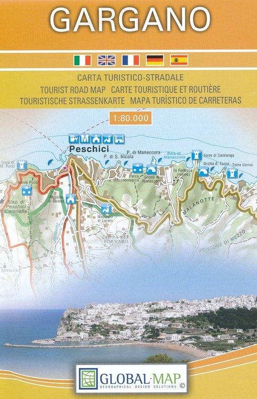 Il Gargano 1:80.000 8059591303061  Global Map   Landkaarten en wegenkaarten Napels en Zuid-Italië